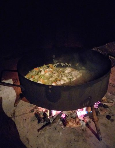 Cena de fin de año en Moquehue.