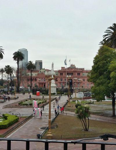 Plaza de Mayo vista desde el Cabildo de Buenos Aires.
