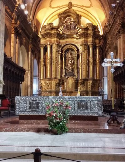 Interior de la Catedral de Buenos Aires.