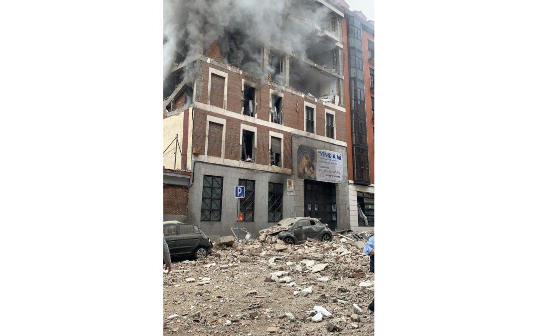 Explosión en Madrid | Hay 11 heridos y 3 fallecidos