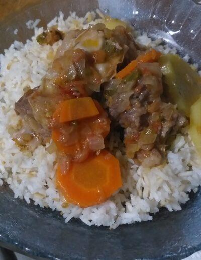 Exquisito plato de comida que probamos en la cena, tras nuestra llegada a Santa Rosa de los Pastos Grandes.